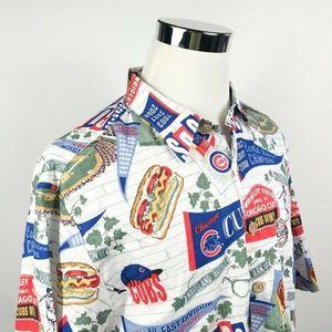 Reyn Spooner XL Chicago Cubs MLB Hawaiian Shirt